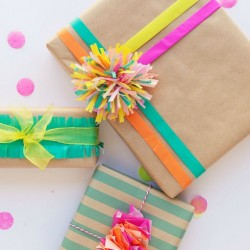 Make your own gift wrap - tissue paper wrap
