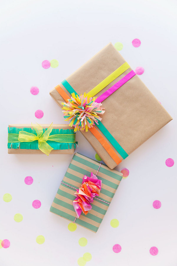 Make your own gift wrap - tissue paper gift wrap