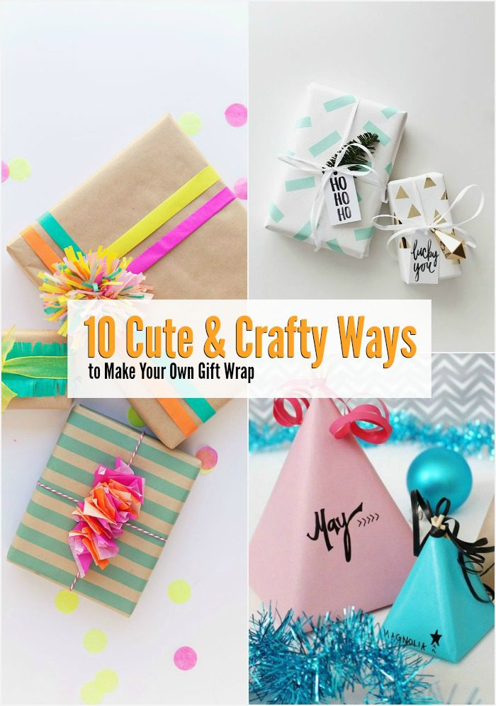 Looking to up your gift wrapping game this year? Make your own gift wrap with a little inspiration from one of these cute and crafty gift wrap ideas. They're totally kid-friendly too.