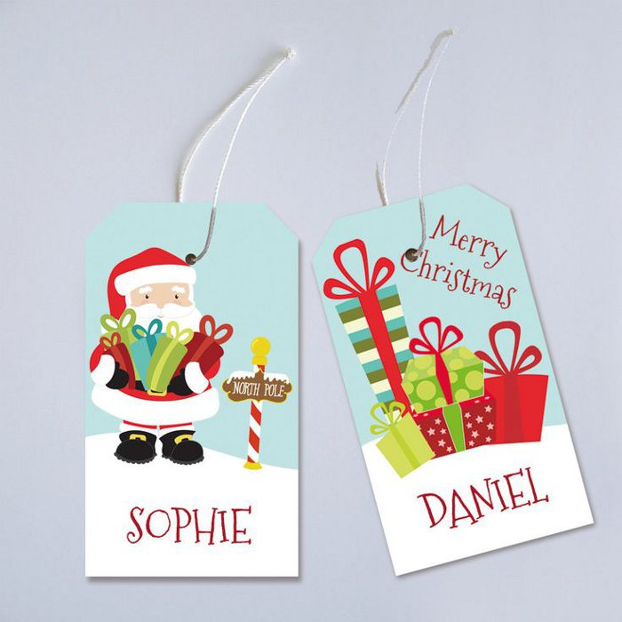 Printable holiday gift tags - personalized gift tags