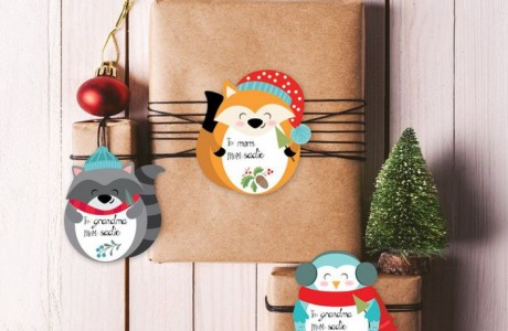 10 Printable Holiday Gift Tags from Etsy. So Adorable, You'll Want Them All