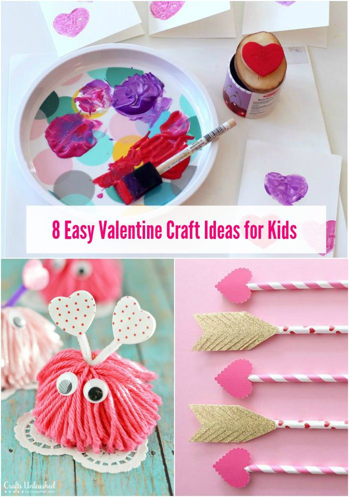 Easy Valentine craft ideas for the kiddos