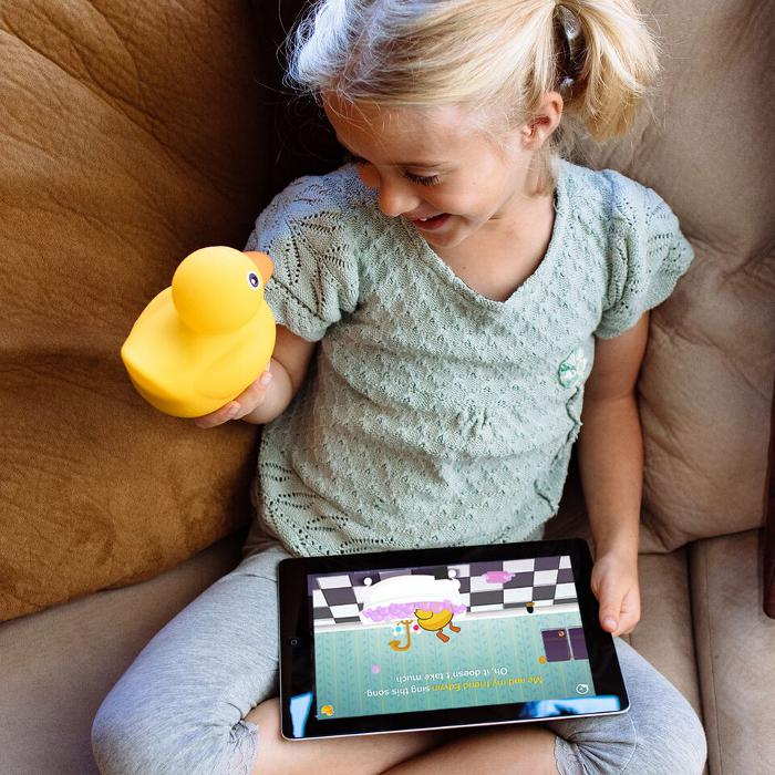 Smartphone and tablet toys for kids: Edwin the duck will send your little tiddlywinks 'quackers'.