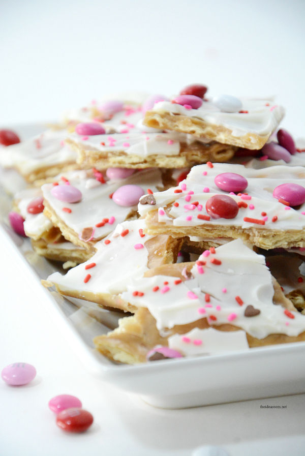 Valentine treats for kids - Saltine Toffee