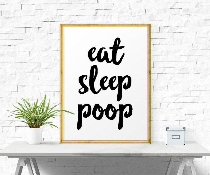 Poop gifts for kids of all ages - eat, sleep, poop printable
