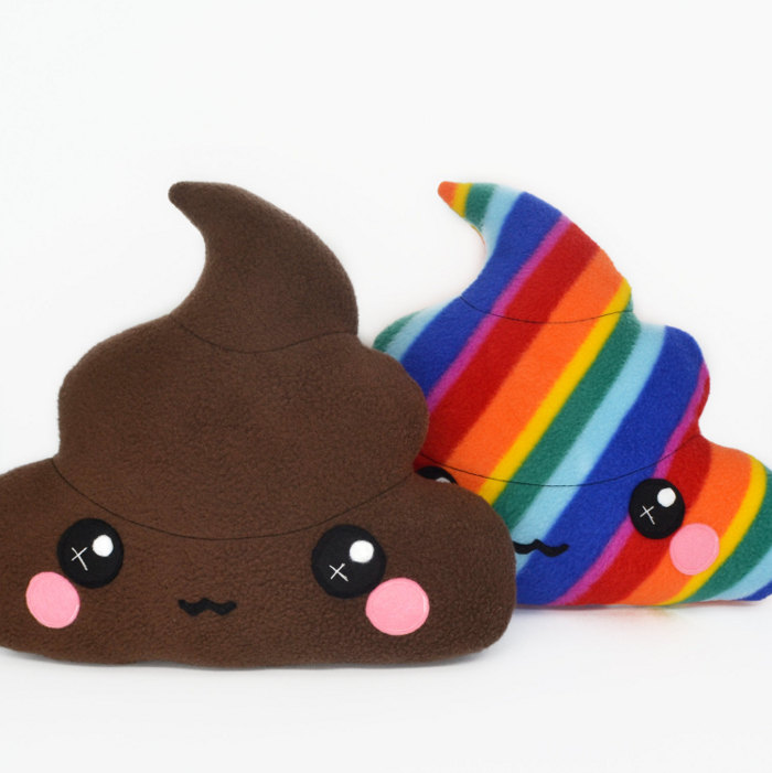 Poop gifts for kids of all ages - poop cushions