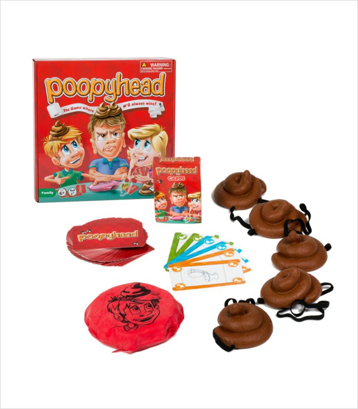 Poop gifts for kids of all ages - poopy head game