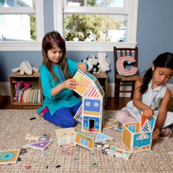 Build and Imagine magnetic dollhouse kit