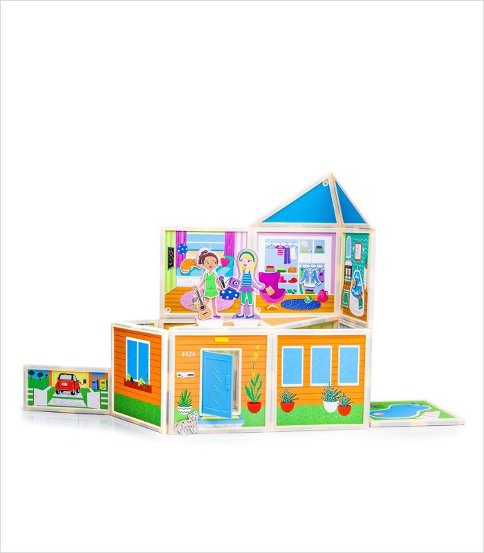 Build and Imagine magnetic dollhouse kit - beach house