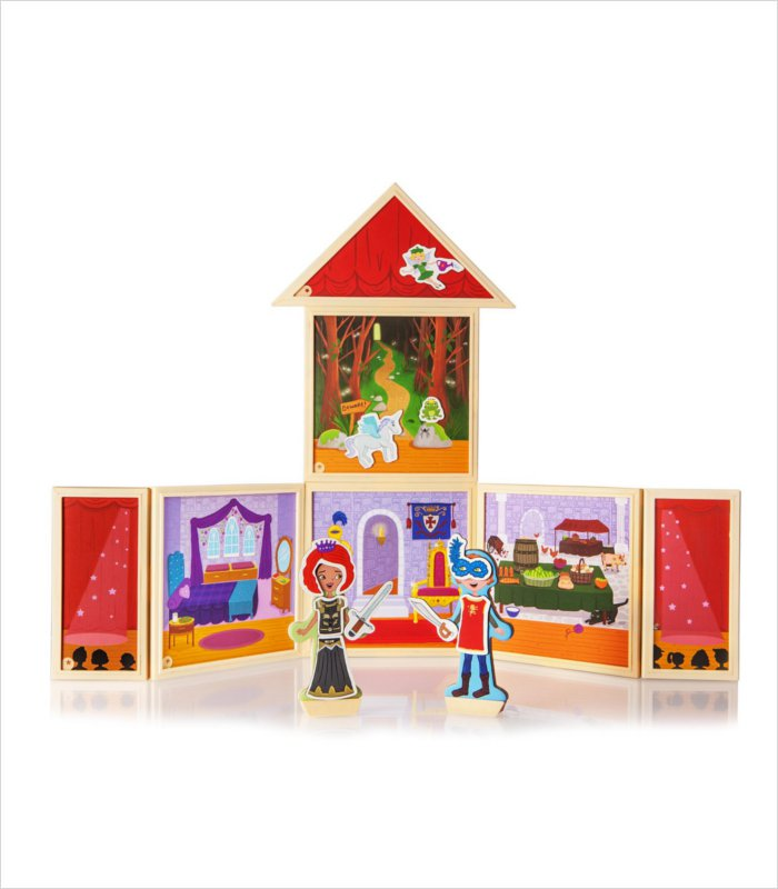 Build and Imagine magnetic dollhouse kit - fairytale theater