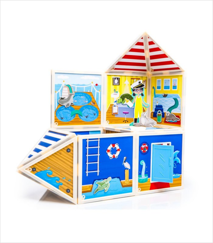 Build and Imagine magnetic dollhouse kit - marine rescue