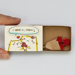 Handmade mothers day gift ideas - I love you matchbox gift