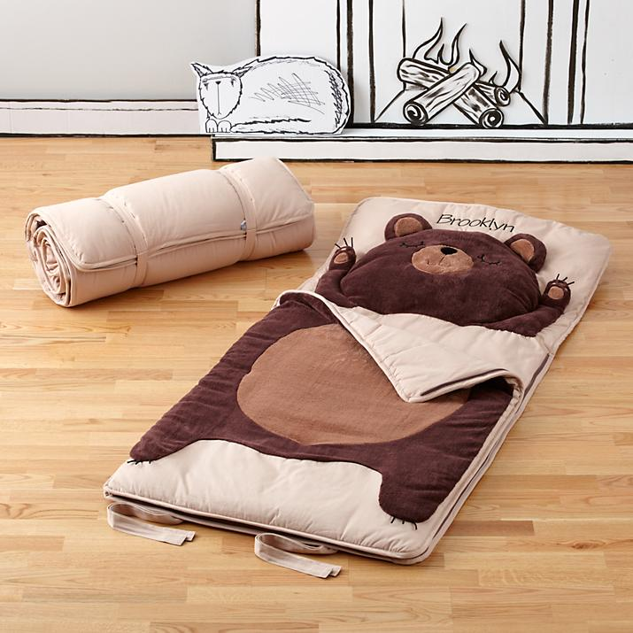 Indoor camping ideas for kids - Bear sleeping bag