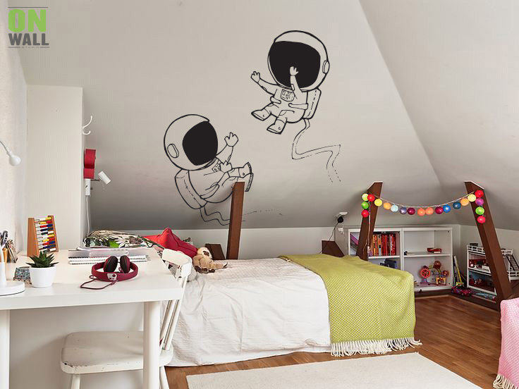 Space themed wall decals - Astronauts wall decal