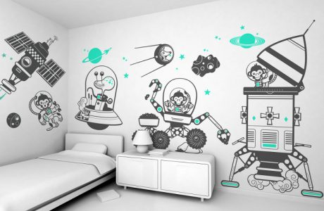 To Infinity and Beyond! 10 Awesomely Fun Space Themed Wall Decals