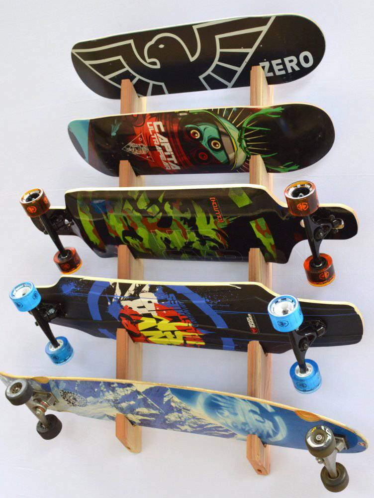 Stakeboard storage - longboard wall rack