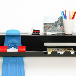 Stakeboard storage - wall ride wall mounted skateboard rack