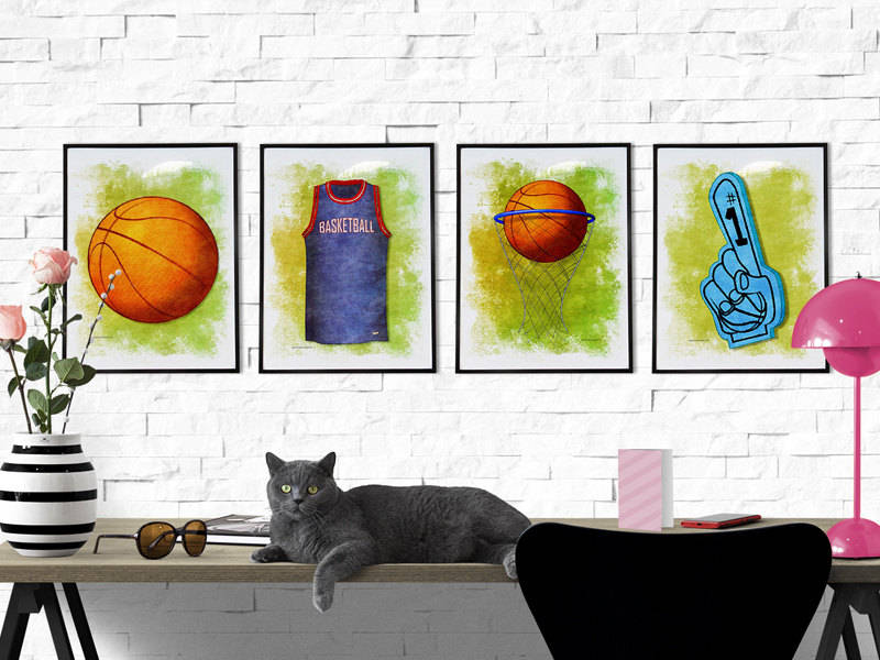 Basketball gifts for girls - basketball wall art