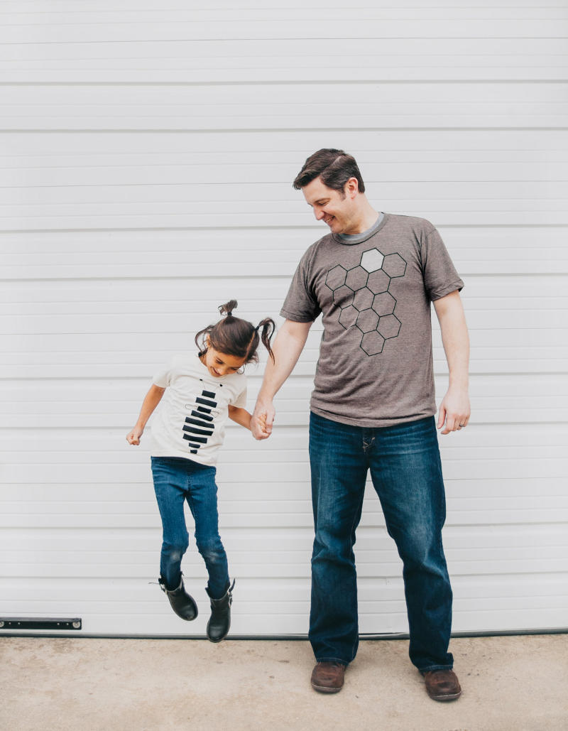 Father Daughter Shirts - Honey Bee and Hive T shirt Set