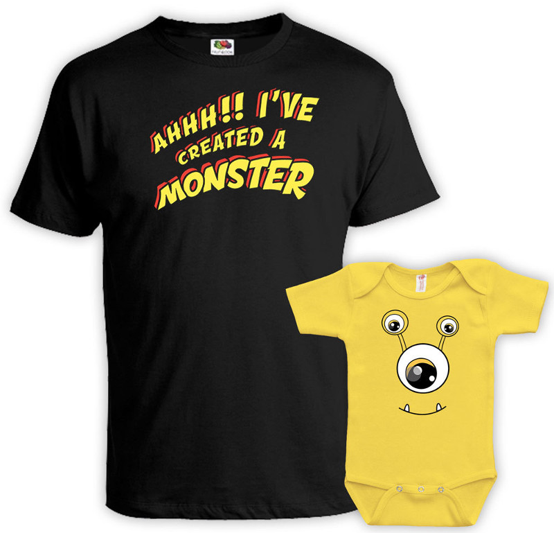 Father Daughter Shirts - Monster Dad And Daughter Matching Shirts