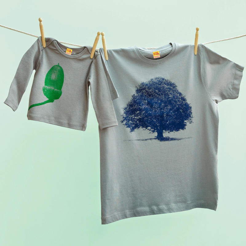 Father Daughter Shirts - Oak Tree & Acorn T Shirt Twinset