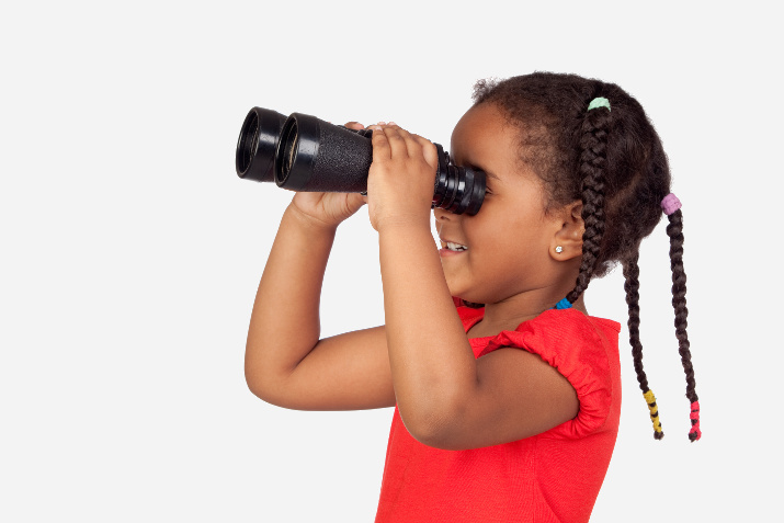 Indoor camping ideas for kids - kids binoculars