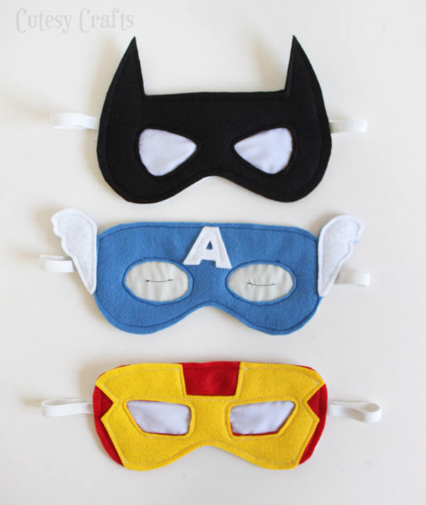 Things to make for fathers day - felt-superhero-sleep-masks