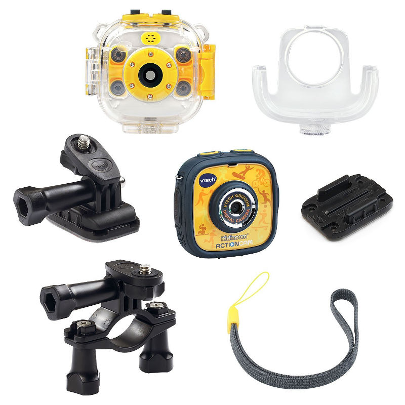 Vtech Kidizoom Action Cam complete with several accessories
