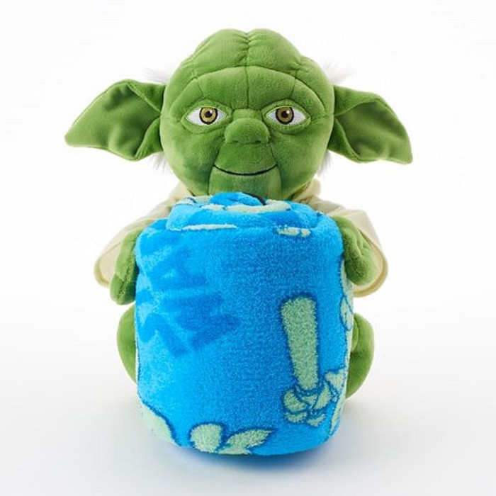 Best Star Wars Gifts - Yoda Character Hugger and Throw Blanket Set