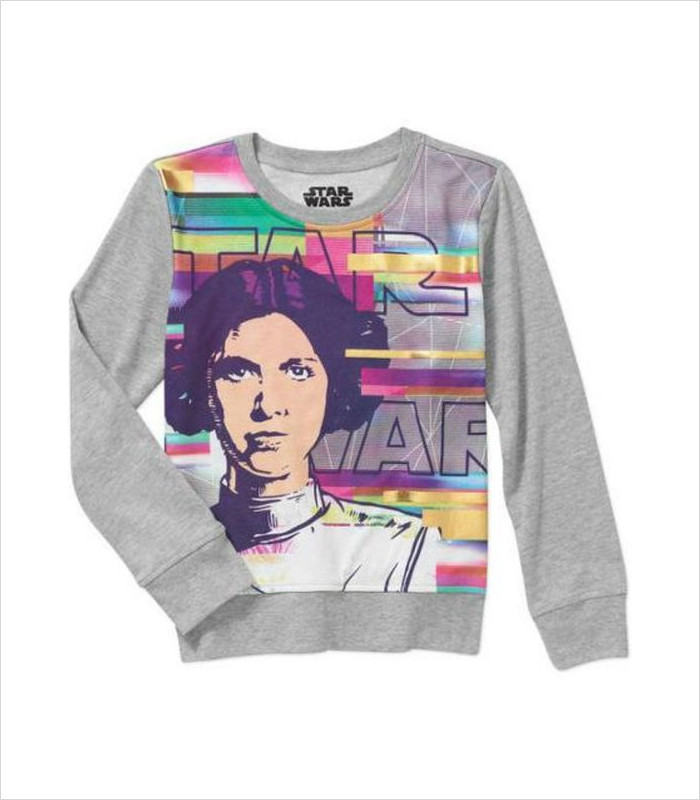 Star Wars Apparel for Kids - Princess Leia Crewneck Graphic Sweatshirt