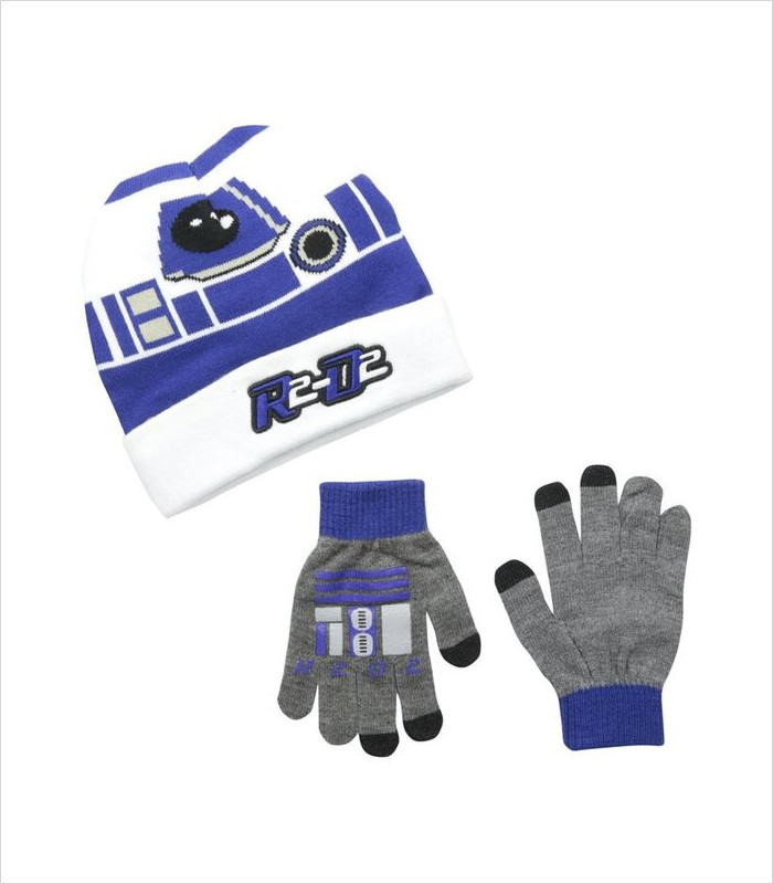 Star Wars Apparel for Kids - R2D2 Cuffed Beanie and Glove Set