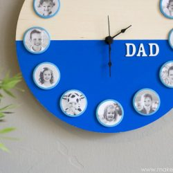 Things to make for fathers day - DIY family portrait clock