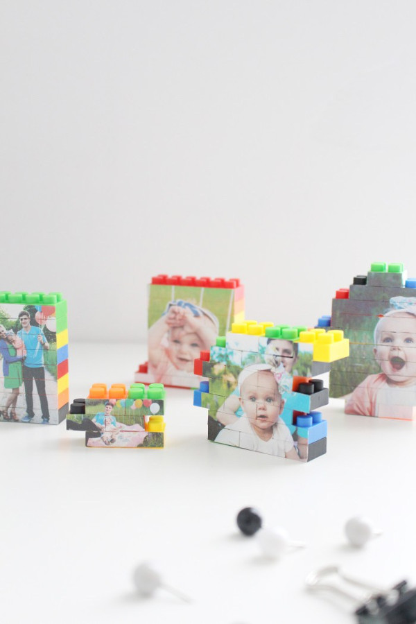 Things to make for fathers day - LEGO picture puzzle