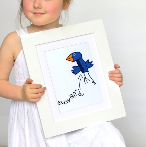 Things to make for fathers day - childs embroidered artwork