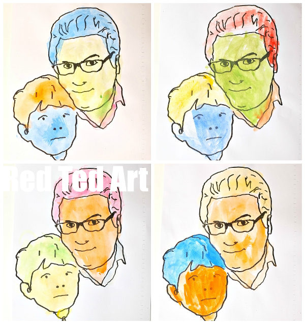Things to make for fathers day - pop art picture