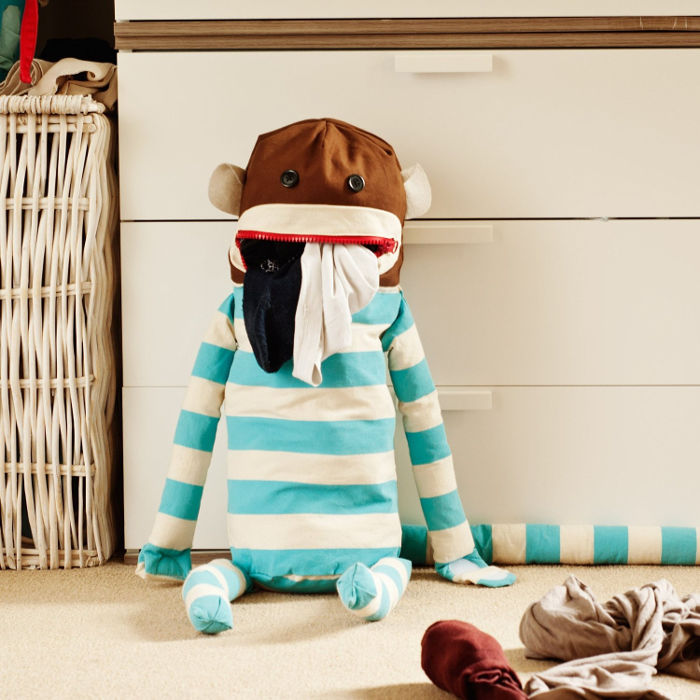 Gifts for Tween Girls - Sock Monkey Laundry Bag