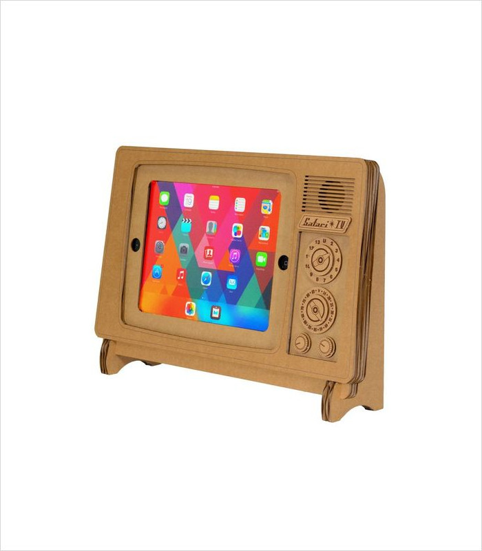Tech Gifts for Teens and Tweens - TV iPad Stand by Cardboard Safari