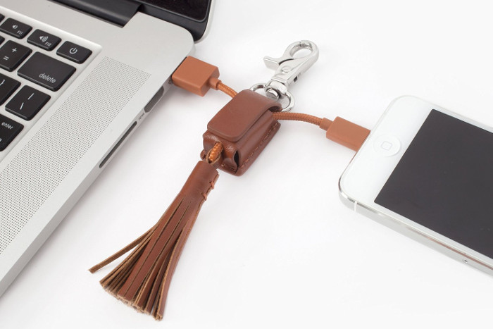 Tech Gifts for Teens and Tweens - Tassel Charging Cable Keychain
