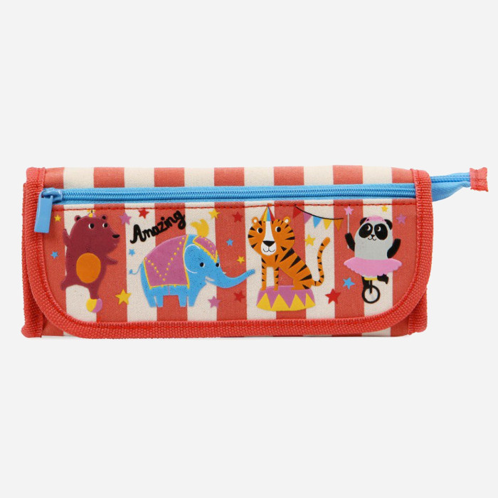 Pencil Cases for Kids-Circus Triple Pencil Case