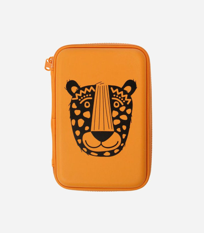 Pencil Cases for Kids-Get Mixy Tiger Hard-Shell Pencil Case