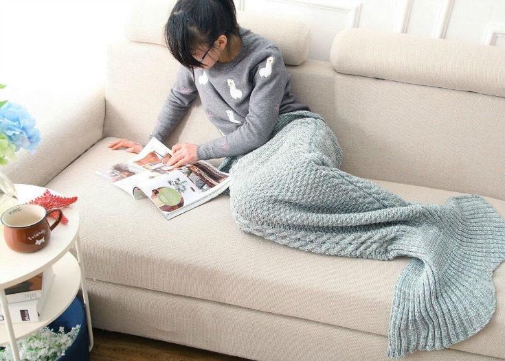 Gifts for Tween Girls Mermaid Tail Blanket
