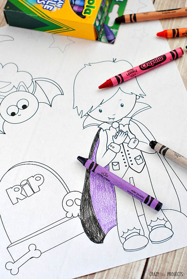 Halloween printable Coloring Pages (via Crazy Little Projects)