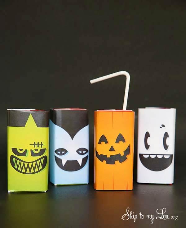 Last Minute Halloween Printables for Kids - Juice Box Printable Halloween Covers (via Skip to My Lou)