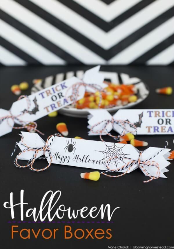 Halloween Printables for Kids - Halloween Favor Boxes (via The Idea Room)
