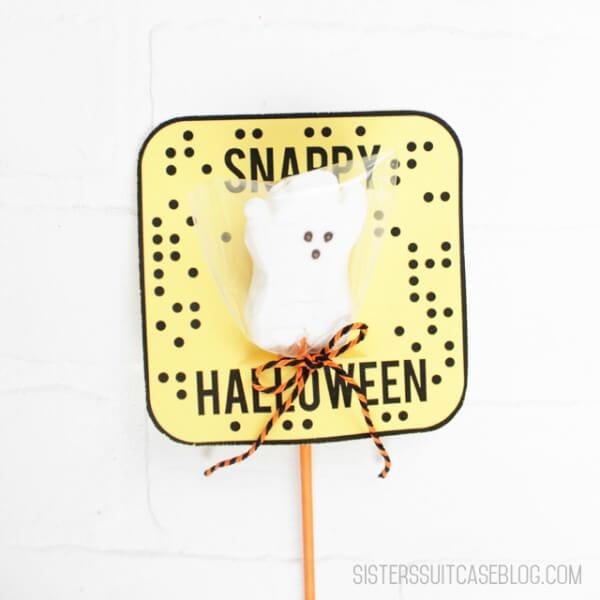 Snapchat Halloween Printable (via My Sister's Suitcase)