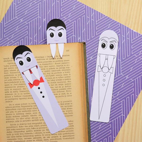 Last Minute Halloween Printables for Kids - Vampire Bookmarks (via Easy Peasy Fun)