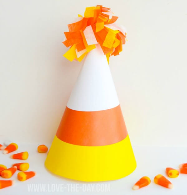 Candy Corn Printable Party Hats (via Love the Day)