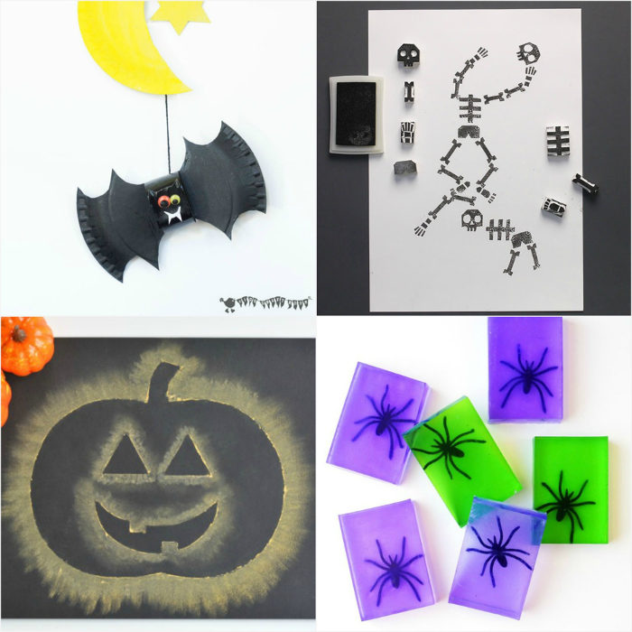 A round up of easy kids Halloween crafts