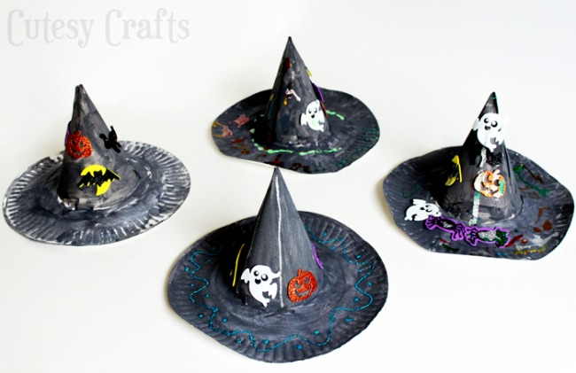 Easy Kids Halloween Crafts - Paper Plate Witches Hat (via Cutesy Crafts)