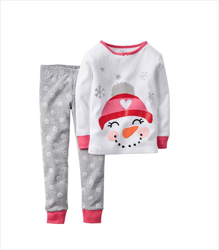 Warm, Fuzzy and Totally Cute Christmas Pajamas for Kids - Wanna build a snowman? OK, how about snuggling in these snowman PJs instead?